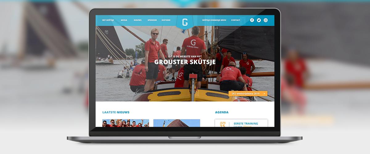 Nieuwe website Skûtsje Grou